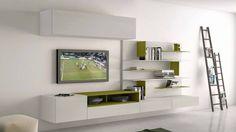 soggiorno moderno con parete attrezzata | FURNITURE | Pinterest ...