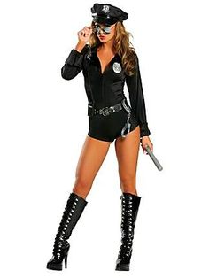 Sexy Lady Cop Police Adult Costume. Accessorize at http://www.fastsunglass.com/Aviator_Sunglasses_s/2022.htm
