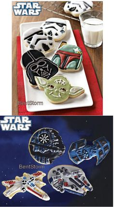 star wars cookies, i have these cookie cutters Now i just have to make them.