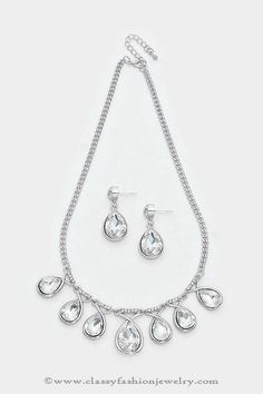Silver statement crystal necklace designs, Silver crystal necklace designs #fashion #necklace #jewellery