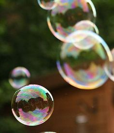 Bubble recipe to make bubbles thicker and last longer.