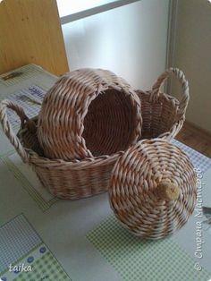 Поделка изделие Плетение Милые вещицы для кухни Трубочки бумажные фото 1