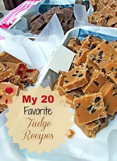Fudge is not just for the holidays with me. I love it year round. Here are my 20 favorite fudge recipes