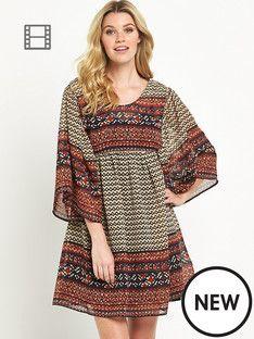 south-printed-smock-dress