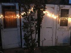 Reclaimed Salvage Vintage Wall of Doors: peacefully romantic