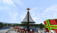 Christmas tree with star that flash's Minecraft Designs, Fair Grounds, Christmas Tree, Star, Fun, Teal Christmas Tree, Xmas Trees, Christmas Trees, Stars