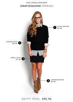 5 work outfits, all under $100!