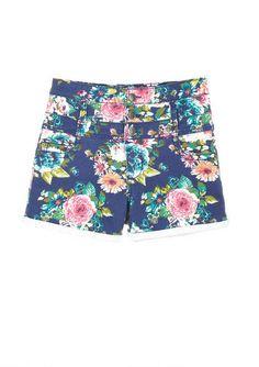Floral High Waist Short