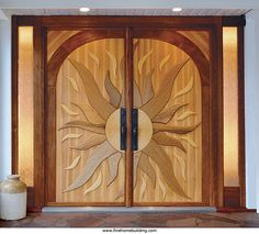 """One of British Columbia woodworker Arnim Rodeck many one-of-a-kind doors. Full PDF article download: """"With Each Door, a Story"""""""