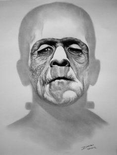 Boris Karloff as Frankenstein's monster Turner Classic Movies, Classic Horror Movies, Horror Films, Horror Art, Horror Monsters, Scary Monsters, Famous Monsters, Boris Karloff Movies, Frankenstein's Monster