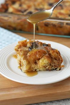 {chocolate croissant bread pudding with rum sauce}