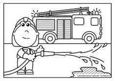 brandweerwagen thema de hulpdiensten