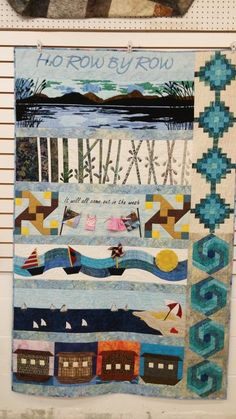Row by Row (2015-water theme) finished in Small Machine, Big Quilts, Better Results on Craftsy.