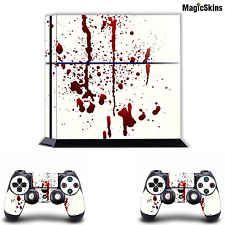 TRUE BLOOD SPLATTER-Playstation PS4 Console Skin+ 2 Controller Sticker Decals