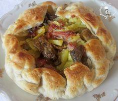 Torta salata con funghi,patate e speck