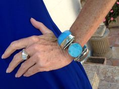 This beautiful turquoise bracelet is all the way from India. #PalmBeach #Fashion https://www.facebook.com/BonnieLovesTravel