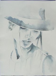 watercolor portrait art Woman in hat prints, Digital watercolor print, printable art, Fashion illustration wall decor, Moder Watercolor Portraits, Watercolor Print, Watercolor Illustration, Watercolor Paintings, Original Paintings, Tattoo Watercolor, Watercolor Ideas, Watercolor Portrait Tutorial, Painting Abstract