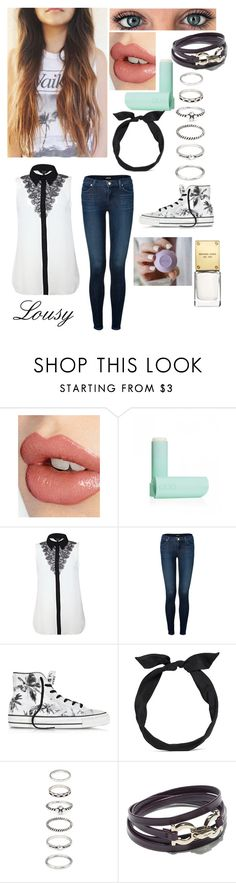 """""""Lousy :)✓"""" by samantharobins ❤ liked on Polyvore featuring Charlotte Tilbury, Eos, J Brand, Converse, yunotme, Forever 21, Salvatore Ferragamo and Michael Kors"""