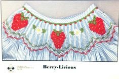 Berry-Licious Smocking Plate by Crosseyed Cricket Spring Book - Tab 3 Smocking Plates, Smocking Patterns, Smocking Tutorial, Spring Books, Gingham Fabric, Sewing Rooms, Design Show, Beautiful Patterns, Booklet