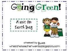 Free Earth Day K-3 packet from Rachelle!