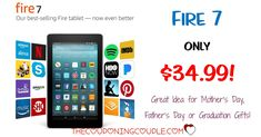 HOT BUY! Don't miss out! Kindle Fire with Alexa for only $34.99 shipped! Great gift idea! Mother's Day, Father's Day and Graduation will be here before we know it!  Click the link below to get all of the details ► http://www.thecouponingcouple.com/kindle-fire-with-alexa/ #Coupons #Couponing #CouponCommunity  Visit us at http://www.thecouponingcouple.com for more great posts!