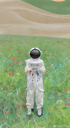 Scenery Wallpaper, Aesthetic Pastel Wallpaper, Cute Wallpaper Backgrounds, Tumblr Wallpaper, Cute Cartoon Wallpapers, Aesthetic Wallpapers, Aesthetic Art, Aesthetic Anime, Astronaut Wallpaper