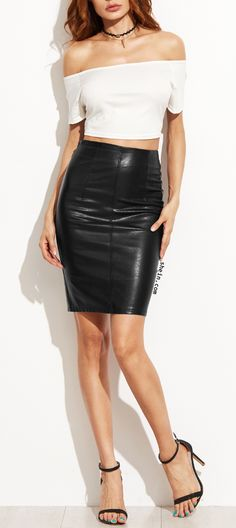 Every women need a leather skirt. Really?