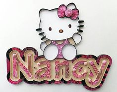 Quilling  Hello Kitty Custom Nameplate Wall Hanging Nyla