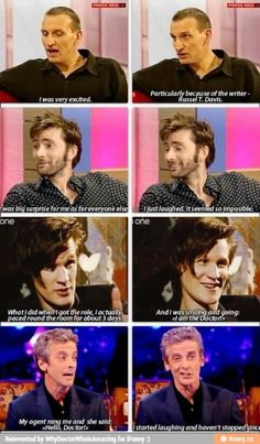 What did the actors do when they found out they got the role of the Doctor?:
