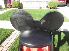 COMPLETED Wooden Ears with Mickey Mouse DIY Cozy by LoveAlyBug