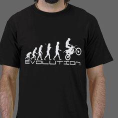 Dirt Bike Rider Evolution T-shirts - motorcycle humor gifts.
