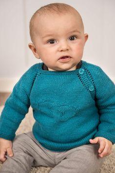 25269fb1 Gratis strikkeopskrift på sød lille trøje med fod-motiv på brystet.  Designet er strikket