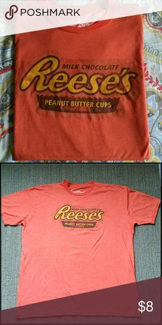Men's Reese Peanut Butter Cup Tee New without tags. Super soft- worn feel.  Orange heathered look.   52% Cotton 48% Polyester Shirts Tees - Short Sleeve