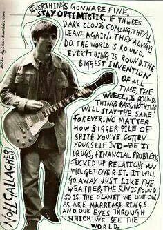 Wise words from Noel.