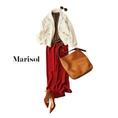 仕事帰りに彼チョコ作りのワークショップへ。情熱レッドなパンツとともに【2018/2/7コーデ】Marisol ONLINE|女っぷり上々!40代をもっとキレイに。
