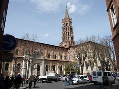 St.+Sernin+Basilica,+Toulouse+-+Noted+for+its+Romanesque+sculpture,+this+basilica+was+a+primary+destination+for+pilgrimage,+which+its+vast+interiorreflects.