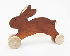 Wooden Easter Bunny Toy Easter Rabbit gift · $14.00 Accessories · Kidsplaywho.com
