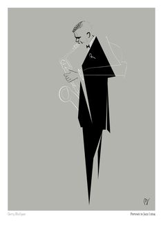 Portrait in Jazz on Behance Vintage Italian Posters, Jazz Poster, Minimalist Artwork, Jazz Art, Music Illustration, Murals Street Art, Sketch Inspiration, Blues, Gerry Mulligan