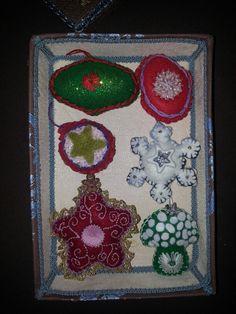 Decorazioni natalizie feltro