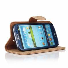 Golden Phoenix Samsung Galaxy S3 Handyhuelle Royal Wallet-Case Wildleder hellbraun