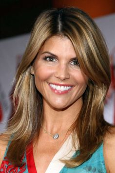 Lori Loughlin. Color, light brown with subtle high lights
