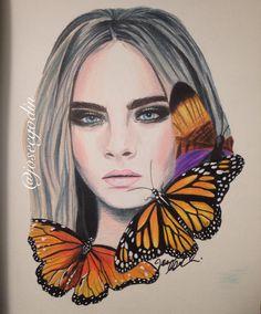 Créations Josée Godin - Cara Delevingne - Illustration