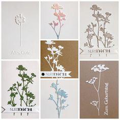 """""""Wildflowers"""" von Tim Holtz, """"Nur für dich"""" von Alexandra Renke, Grüße"""