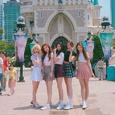 Going to a land of imagination together:)) Mode Ulzzang, Ulzzang Korean Girl, Cute Korean Girl, Skirt Fashion, Fashion Outfits, Bff Girls, Korean Best Friends, Aesthetic Grunge Outfit, Girl Friendship