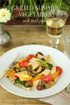 """Grilled Summer Vegetable """"Bolognese"""" with Fresh Pasta"""