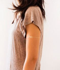 tattly metallic gold be happy temporary removable tattoo set cool boho bohemian arm band gift for girlfriend teen tween girl stocking stuffer birthday