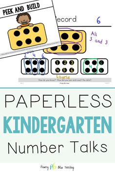 We Have Taken All The Hard Work Out Of Implementing Daily Number Talks With Your Kindergarteners. This Yearlong Resource Includes Hundreds Of Common Core Aligned Math Talk Slides And Detailed Lesson Plans To Last The Entire Year. You Should simply Display Number Talks Kindergarten, Kindergarten Lesson Plans, Math Lesson Plans, Teaching Math, First Grade Lessons, First Grade Math, Math Lessons, Grade 1, Math Fact Practice