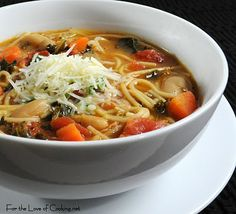 Ribollita:    1-2 tbsp olive oil  1 sweet yellow onion, diced  2 carrots, diced  3 oz of pancetta, chopped  4 cloves of garlic, minced  Sea salt and freshly cracked pepper, to taste  1 tbsp tomato paste  1 14 oz can of diced tomatoes, with juice  2-3 cups of fresh kale, chopped  1 15 oz can of white cannellini beans, drained and rinsed  1 tsp dried basil  1 tsp dried oregano  6 cups of chicken