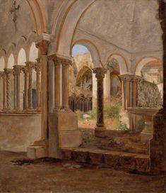 Autumn, Monastery Garden, Constantin Hansen (1804-1880)