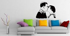 Wall Vinyl Sticker Decal Kissing Couple Love Romantic Art Design Room Nice Picture Decor Hall Wall Chu1403 Thumbs up decals http://www.amazon.com/dp/B00FUA2HMY/ref=cm_sw_r_pi_dp_ZEdYtb1MDP0G03X2